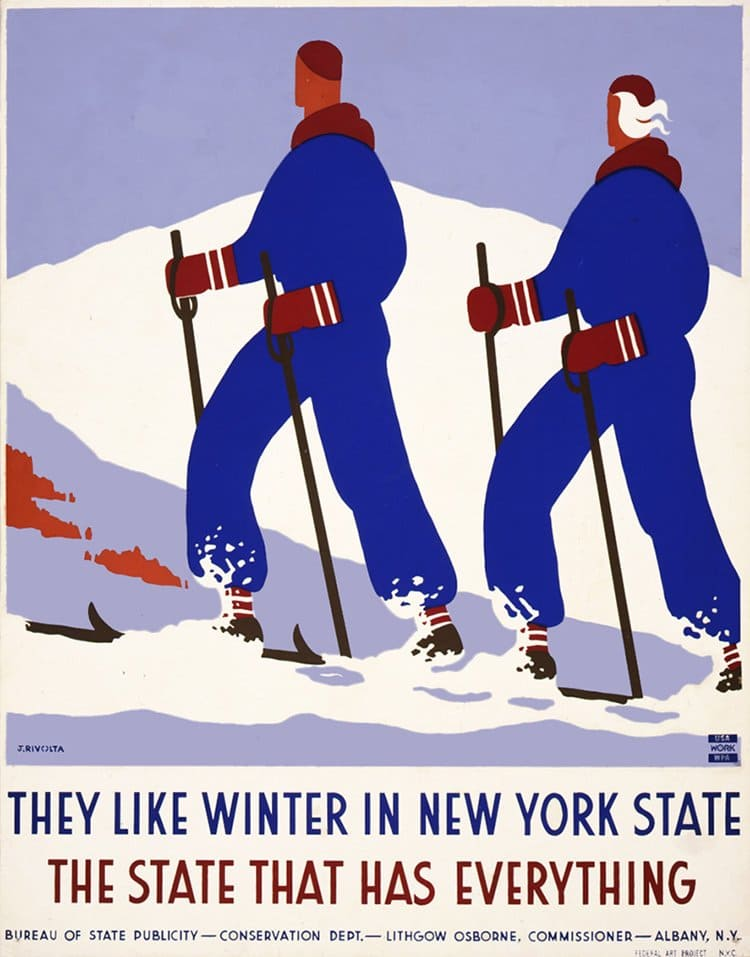 vintage travel posters new york state