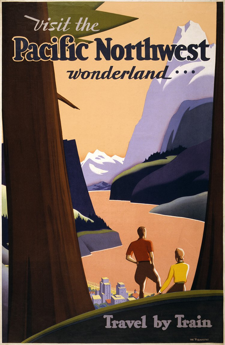 vintage travel posters pacific northwest