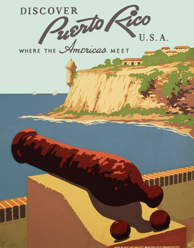 vintage travel posters puerto rico