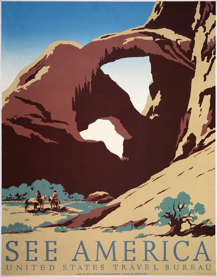 vintage travel posters see america