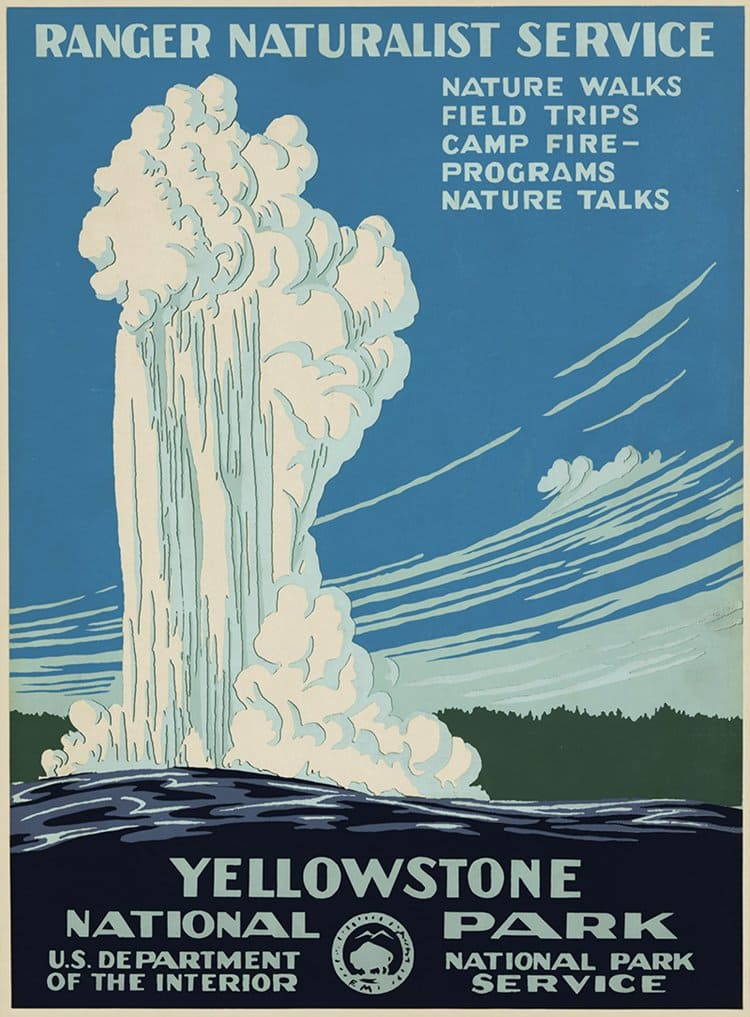 vintage travel posters yellowstone