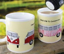 vw campervan heat changing mug