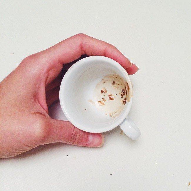 woman hand coffee cup