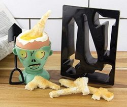 zombie egg cup and toast cutters
