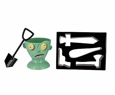 zombie egg cup and toast cutters shovel