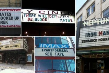 Accidentally Funny Movie Theater Signs