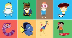 Animated Characters Alphabet