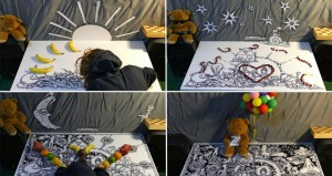 Artist Creates Stop Motion Video With Teddy Bear And Fruit