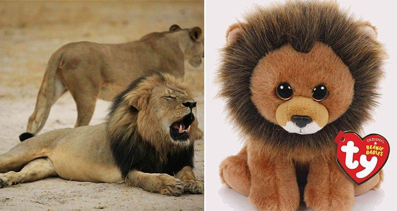 Cecil The Lion Beanie Baby