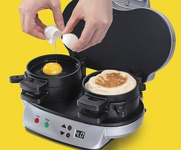 Dual Breakfast Sandwich Maker egg
