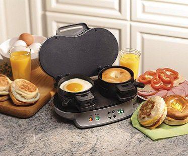 Dual Breakfast Sandwich Maker machine