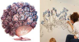 Flowers Butterflies And Human Organs Art
