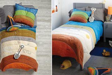 Geology-Inspired Bedding Set