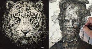 Glen Ronald Ink Splash Art