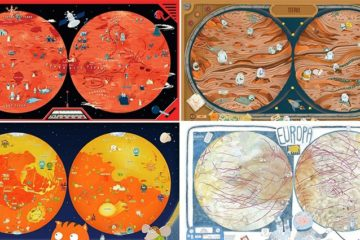 Hand-Drawn Maps Of The Planets