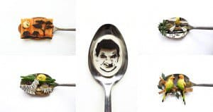 Ioana Vanc Food Art On Spoons