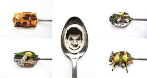 Ioana Vanc Food Art On Spoons