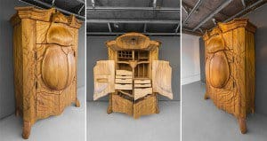 Janis Straupe Beetle-Shaped Cabinet