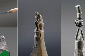 Jasenko Dordevic Pencil Tips Sculptures
