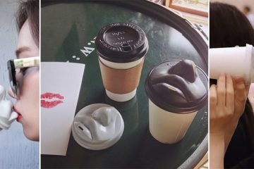 Kissable Coffee Cup Lid