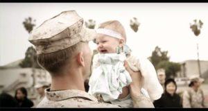 Lieutenant Dan Meet His Baby Daughter