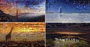 Mosaics From Hundreds Of Photos