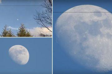 Nikon Camera Zooming In On Moon