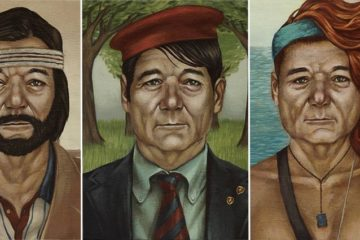Paintings Of Bill Murray As Wes Anderson Characters