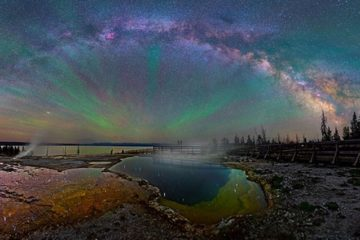 Photos Of The Milky Way Over Yellowstone