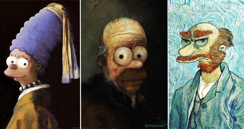 Creepy Funny Faces Pop Culture Elements A...