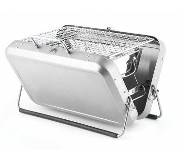 Portable BBQ Suitcase silver