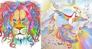 Sarang Khanna Abstract Animal Illustrations