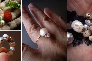 Shinji Nakaba Skull Jewelry From Pearls