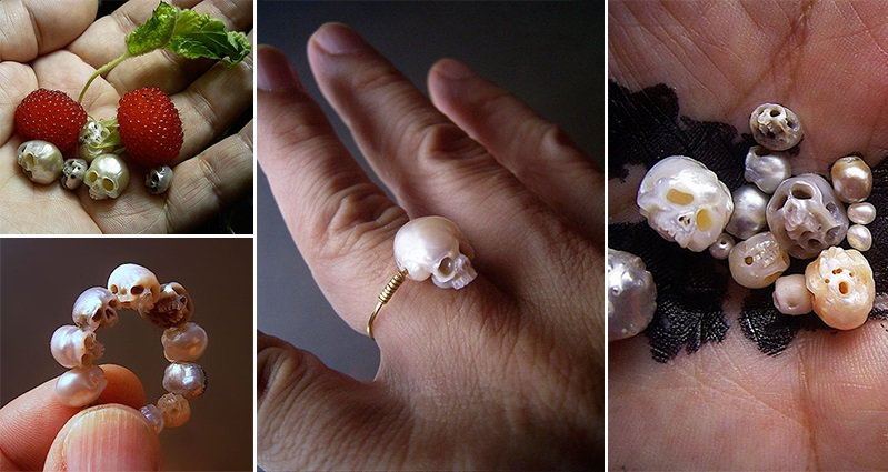 Shinji Nakaba Skull Jewelry From Pearls