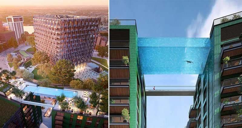 The New 39 Sky Pool 39 With A Glass Bottom Will Allow You To Swim 115ft Above London