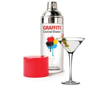 Spray paint can cocktail shaker for Paint and cocktails