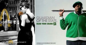 Stars From The Past Photoshopped Into Modern Adverts
