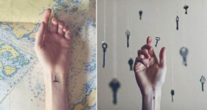 Tiny Tattoos With Fitting Backgrounds