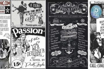 Vintage Looking Punkgraphic Adverts