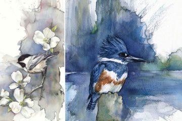 Watercolor Paintings Of Birds