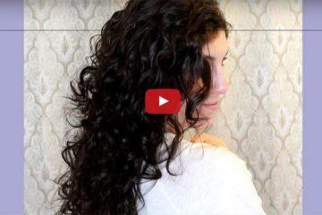 Wet Hair Tshirt Curls Trick
