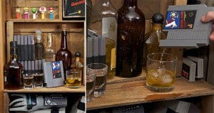 Whiskey Flasks Made From Old Nintendo Cartridges
