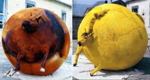 Yang Maoyuan Dead Animal Skins Art