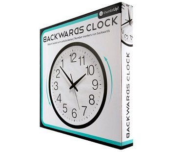 backwards clock box