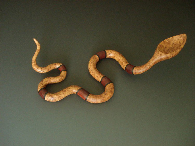 banded snake spoon
