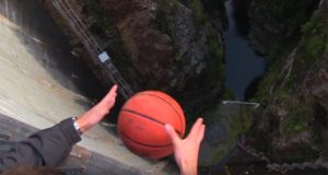 basketball Drop 415 Feet Tasmania