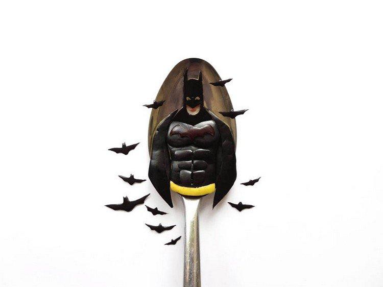 batman on spoon