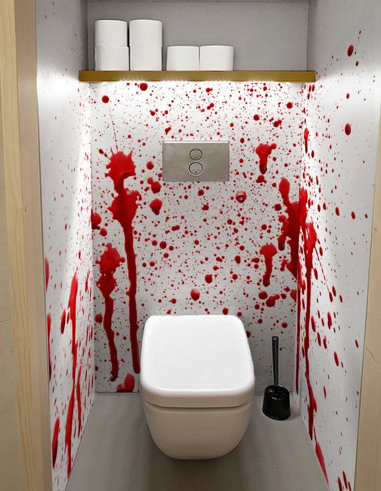 Merveilleux Blood Walls Mural Bathroom