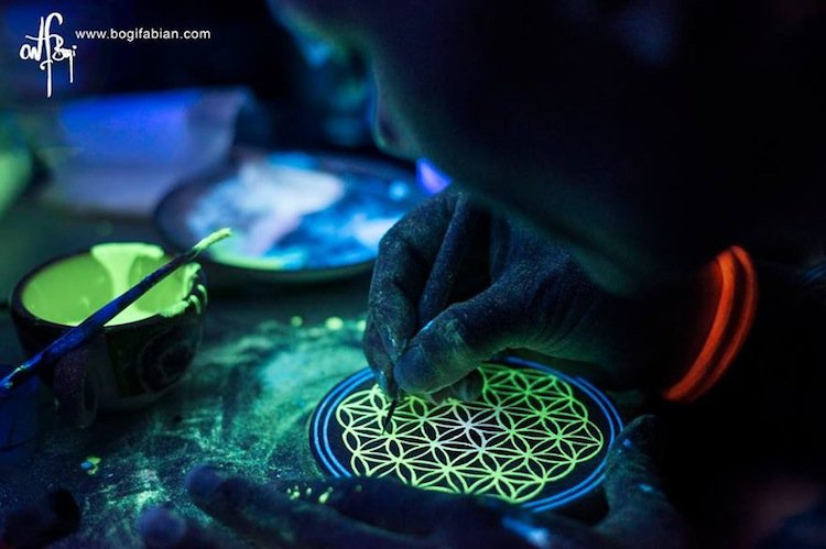 bogi. Unique Glow In The Dark Ceramic Jewelry By Bogi Fabian
