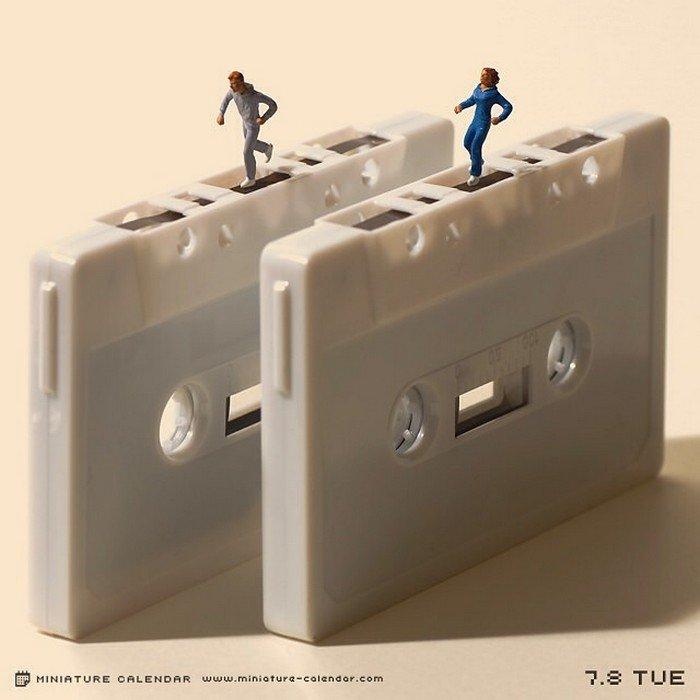 cassette tape mini treadmill